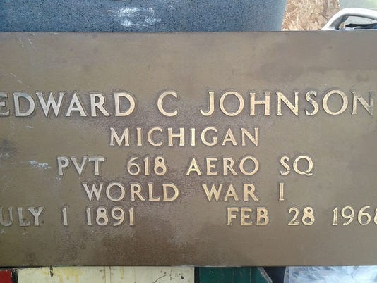 Edward C. Johnson marker