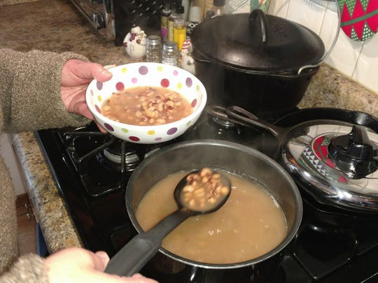 Many people, especially in southern parts of the country, eat black-eyed peas on New Year's Day to bring luck all year.