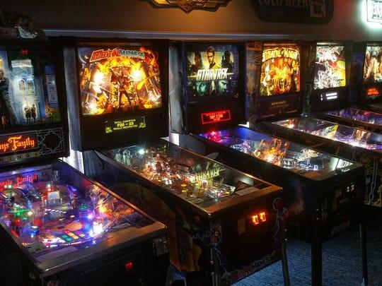 Pinball machines at The Bonus Round