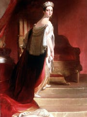 'Queen Victoria' (1838) painting by Victorian artist