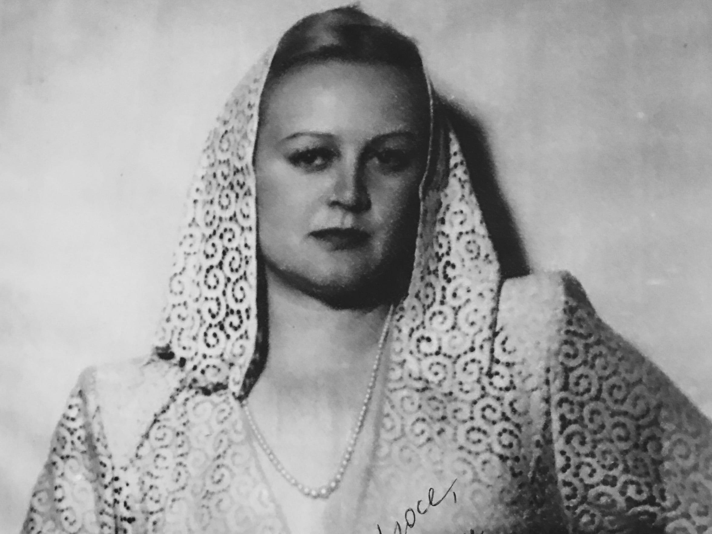 The Soviet-era actress Tatiana Kirillovna Okunevskaya.