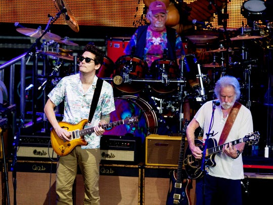 Dead & Company, pictured here performing at Alpine Valley Music Theatre in 2016.