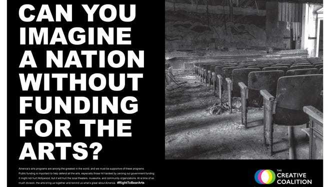 The Creative Coalition has launched a PSA campaign to fight Trump administration plans to eliminate the National Endowment for the Arts funding.
