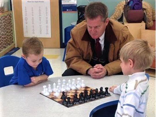Knox County Mayor Tim Burchett took in the action at
