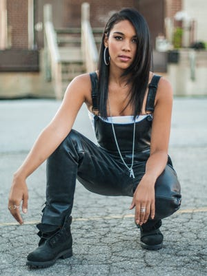 "Phoenix native Alexandra Shipp plays R&B singer Aaliyah in ""Aaliyah: The Princess of R&B."""