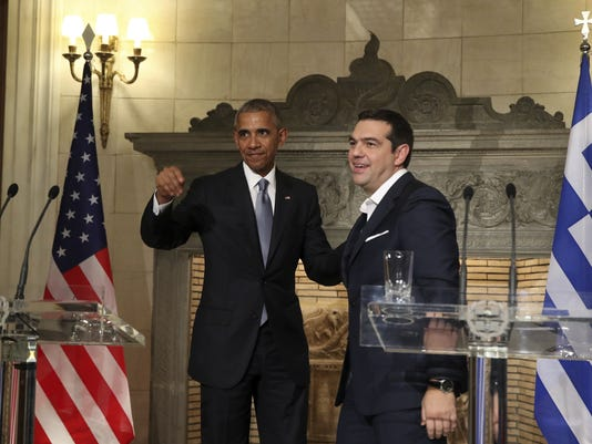 AP GREECE OBAMA I GRC