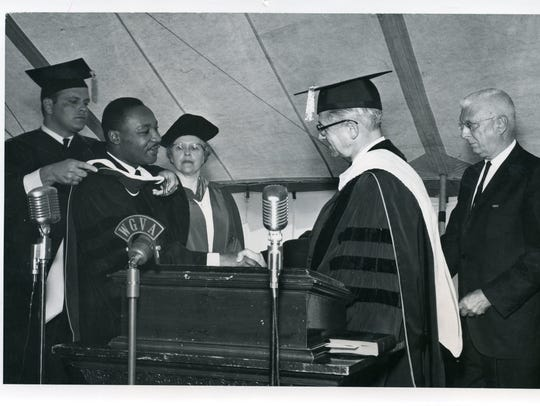 Martin Luther King Jr. receives an honorary degree