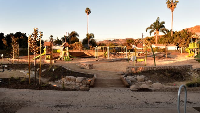 Construction is underway at Kellogg Park in Ventura, where new playground and picnic features are being installed.