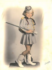 Bonnie Zinn in 1948. Starting at age 3, she served