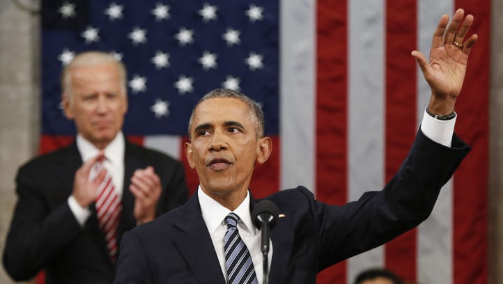 President Obama, here waving at his State of the Union