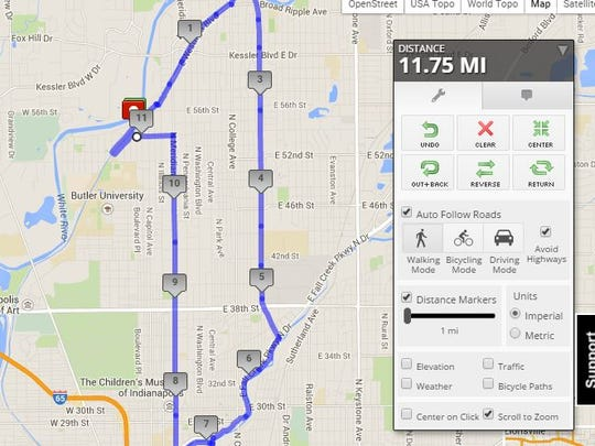 This 12-mile loop integrates three trails and some urban running.