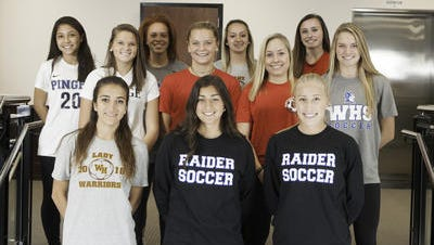 Courier News All-Area Girls Soccer First Team.