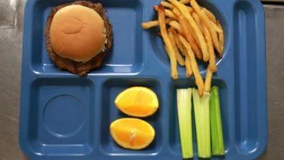 A school lunch tray.