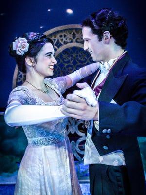 "Rosemary Fossee, left, and Matthew Rose in Nashville Children's Theatre's ""Cinderella."""