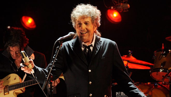 Bob Dylan performs on Jan. 12, 2012, in Los Angeles. Dylan was named the winner of the 2016 Nobel Prize in Literature on Thursday. the first time the honor was bestowed upon someone primarily seen as a musician.