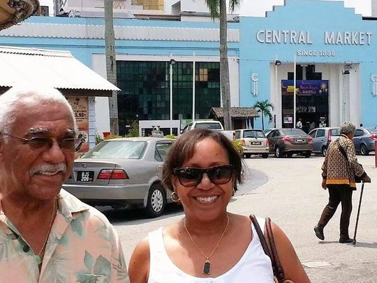 Curtis and Diane Jackson of Queen Creek at the Central Market in Kuala Lumpur.