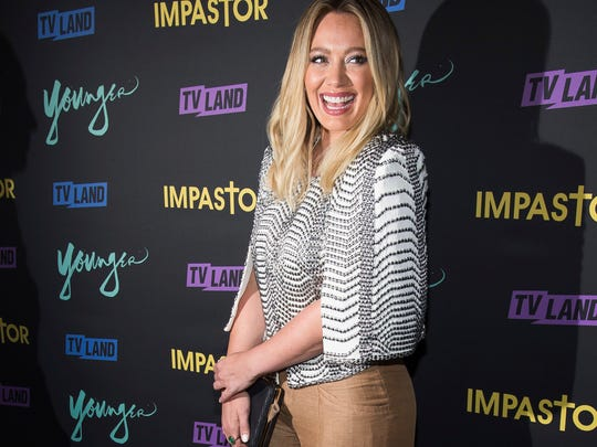 """Hilary Duff attends the season premiere party for TV Land's """"Younger"""" and """"Impastor"""" television shows Sept. 27, 2016, in New York."""