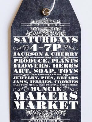 Muncie Makers Market is held from 4-7 p.m. every Saturday through Oct. 29 at the corner of Jackson and Cherry.