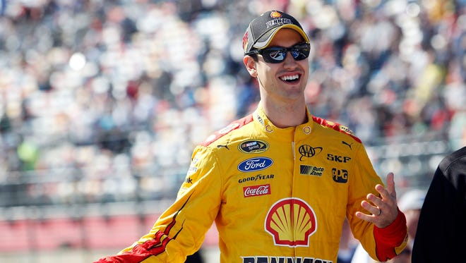 Sprint Cup Series driver Joey Logano won the Bank of America 500 at Charlotte Motor Speedway.