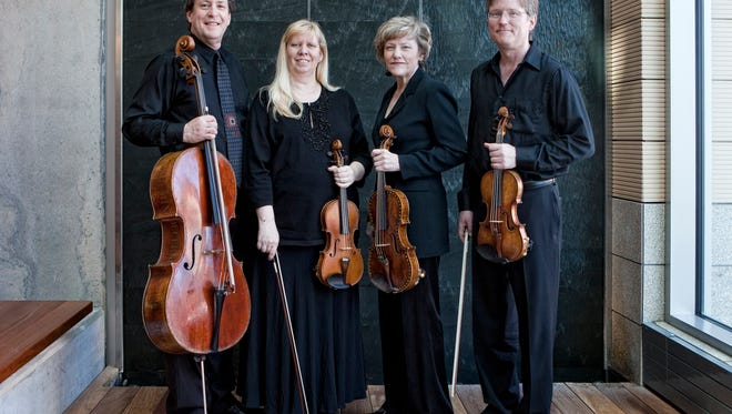 Members of the Pro Arte Quartet include, from left, Parry Karp, Suzanne Beia, Sally Chisholm and David Perry.