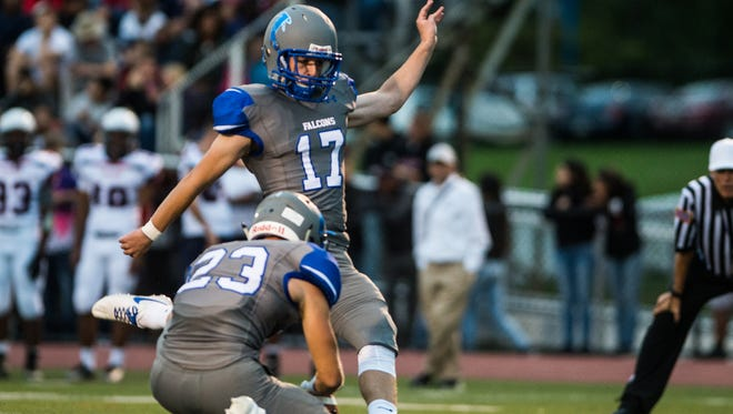 Cedar Crest place kicker Chad Ryland committed to continue his football career at Eastern Michigan on Saturday.