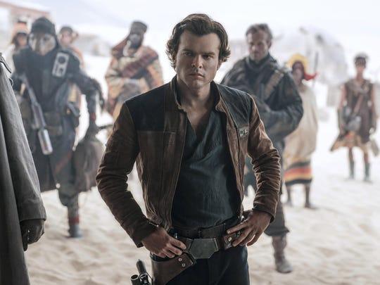 "Alden Ehrenreich plays Han Solo in ""Solo: A Star Wars"