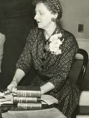 Juliette Hampton Morgan, pictured here in 1955, died in her Cloverdale home two years later.