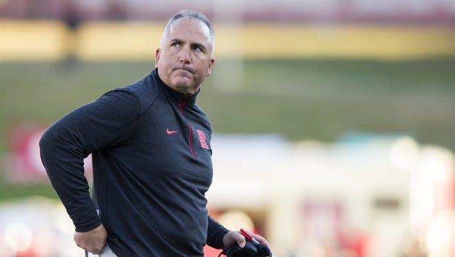 Former Rutgers football head coach Kyle Flood. (AP File Photo/Doug McSchooler)