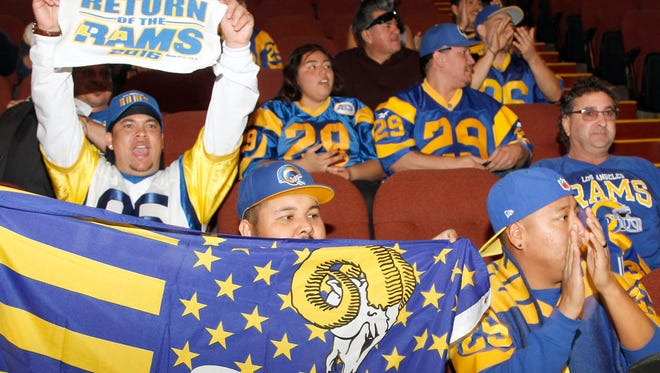 The St. Louis Rams are returning to play in 2016 in the Los Angeles area.