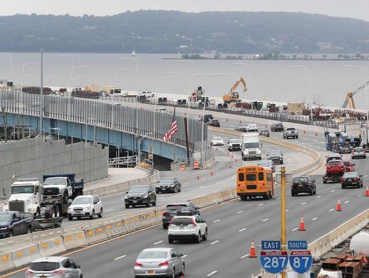 The Mario M. Cuomo Bridge shared-use path, blocked