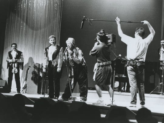 An undated photo shows Presley show cast members performing