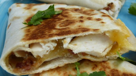 This goat cheese and bell pepper version is a healthier option than most quesadillas.