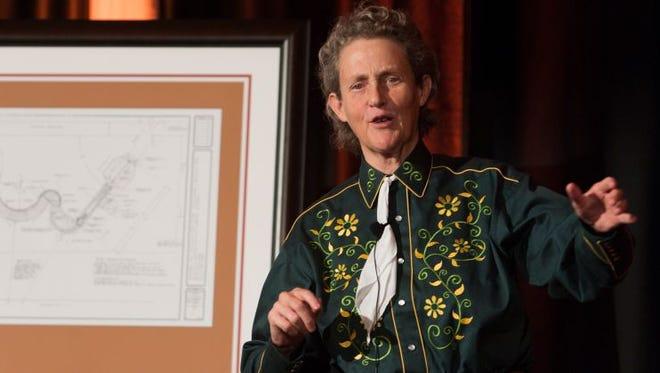 Colorado State University Animal Sciences Professor Temple Grandin answers questions at A Celebration of Temple Grandin, October, 4, 2011.