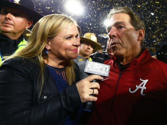 Holly Rowe, Nick Saban