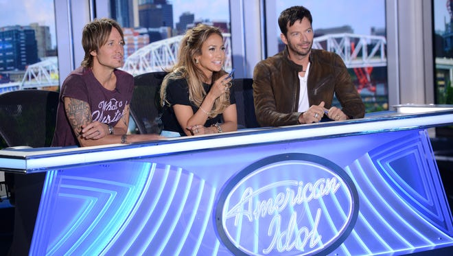 Judges Keith Urban, left, Jennifer Lopez and Harry Connick Jr. will embark upon one last search for a superstar in 'American Idol's' final season in 2016.