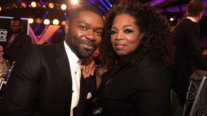 """Selma"" actor David Oyelowo and Oprah Winfrey attend the 20th annual Critics' Choice Movie Awards on Thursday at the Hollywood Palladium in L.A."
