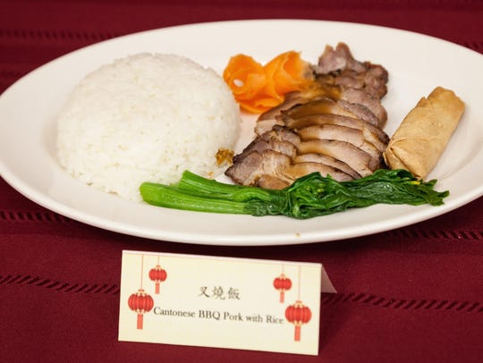 Cantonese BBQ pork is the Chinese Festival's featured