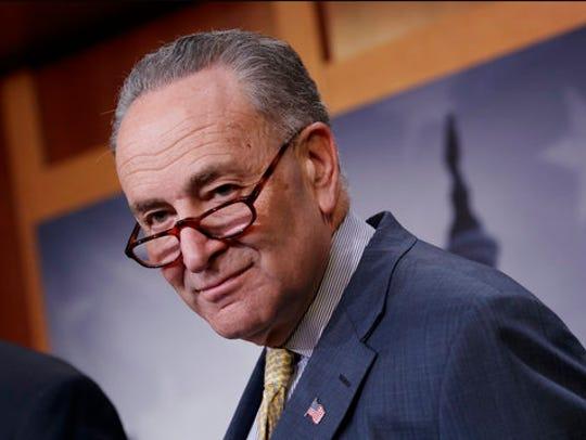 FILE - In this April 5, 2017 file photo, Senate Minority