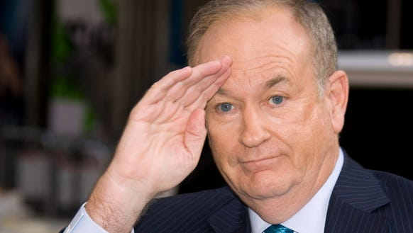 FOX TV show host Bill O'Reilly arrives for a taping