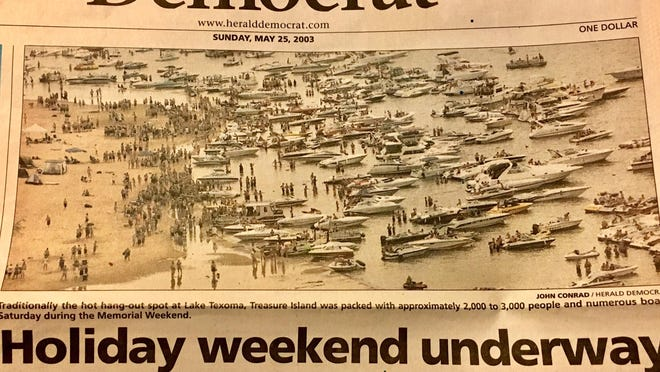 Due to the COVID-19 pandemic, this Fourth of July holiday weekend probably isn't the time to try and recreate this 2003 photo on the front page of the Herald Democrat. Limiting group sizes and maintaining a social distance of at least six feet are among the health guidelines recommended by state authorities this year.