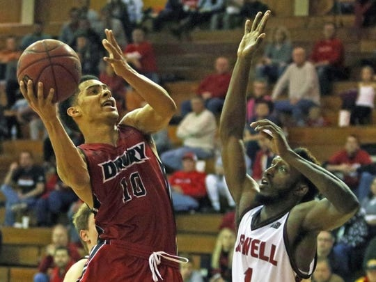 The Drury Panthers' Tevin Foster during Saturday's