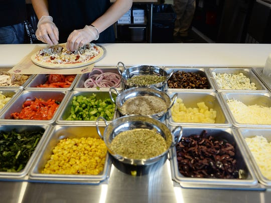 Mod Pizza serves individual pizzas made to order and salads.