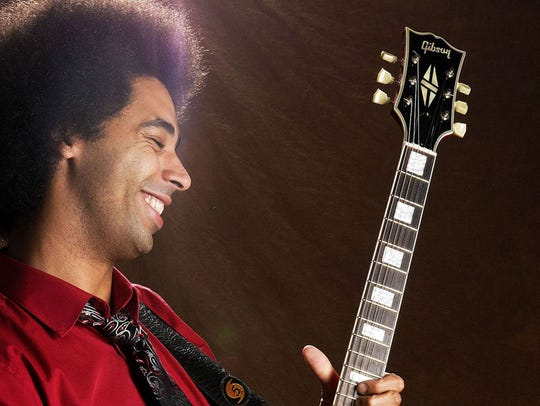 Guitar player Selwyn Birchwood is making the trip from