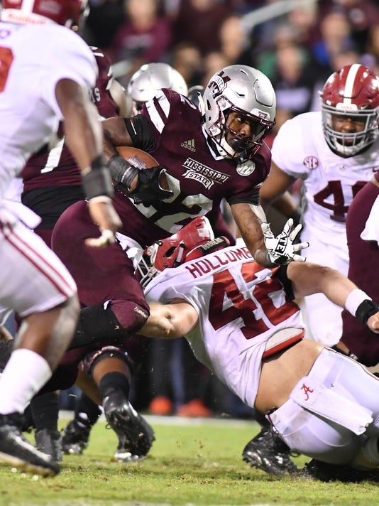 USP NCAA FOOTBALL: ALABAMA AT MISSISSIPPI STATE S FBC MIS ALA USA MS