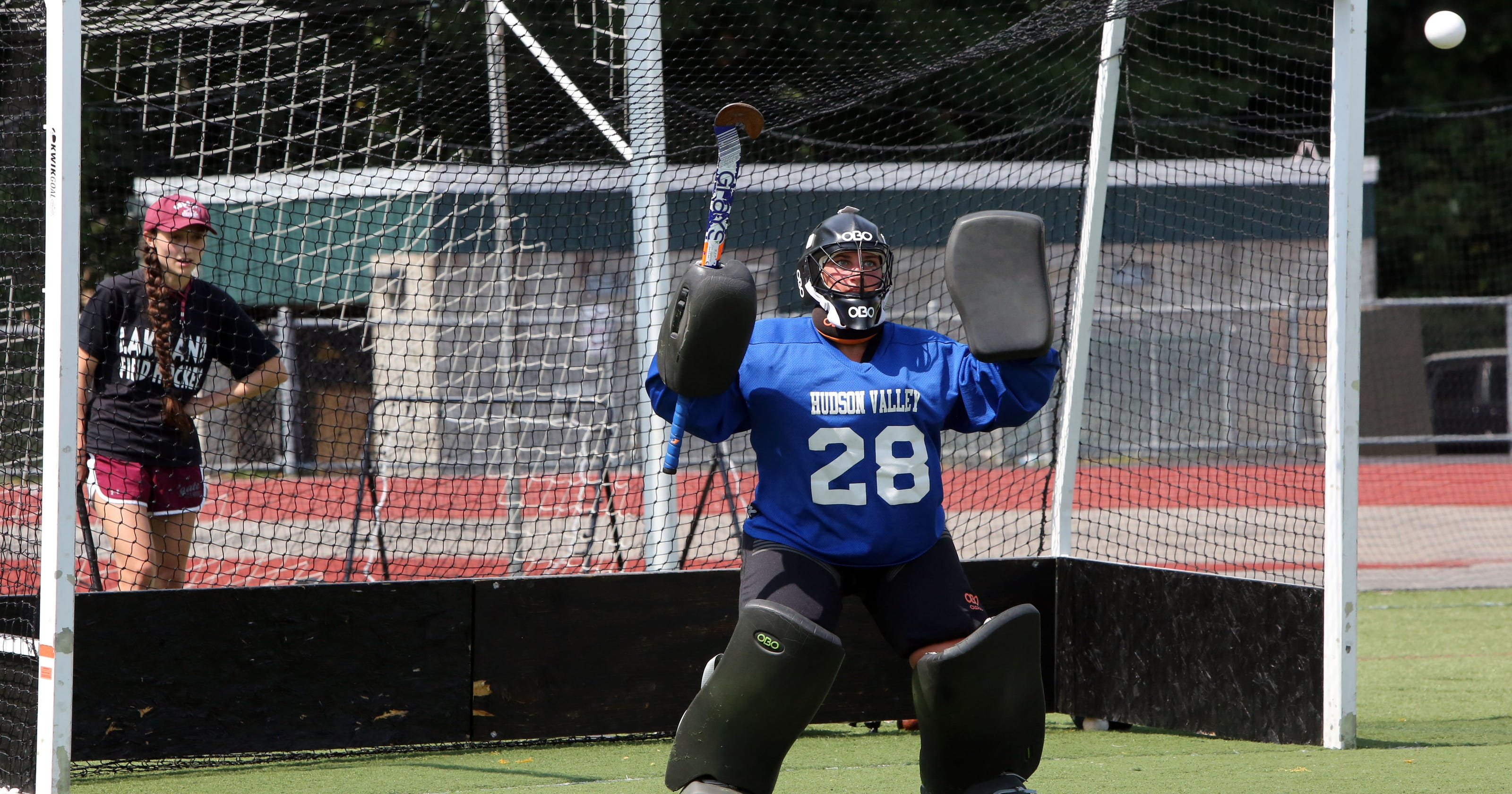 wholesale dealer 1c5d7 0e9a6 So who wants to be a field hockey goalie?