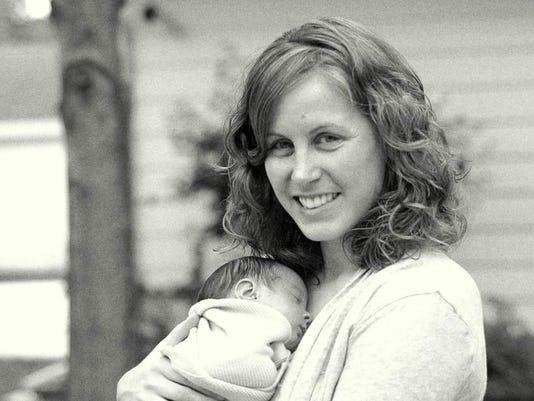 Pamela Hannen and her baby