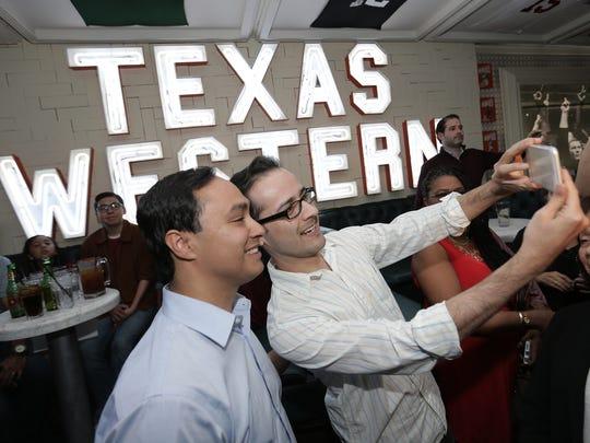 U.S. Rep. Joaquin Castro posed for selfies with El Paso Democrats Saturday.