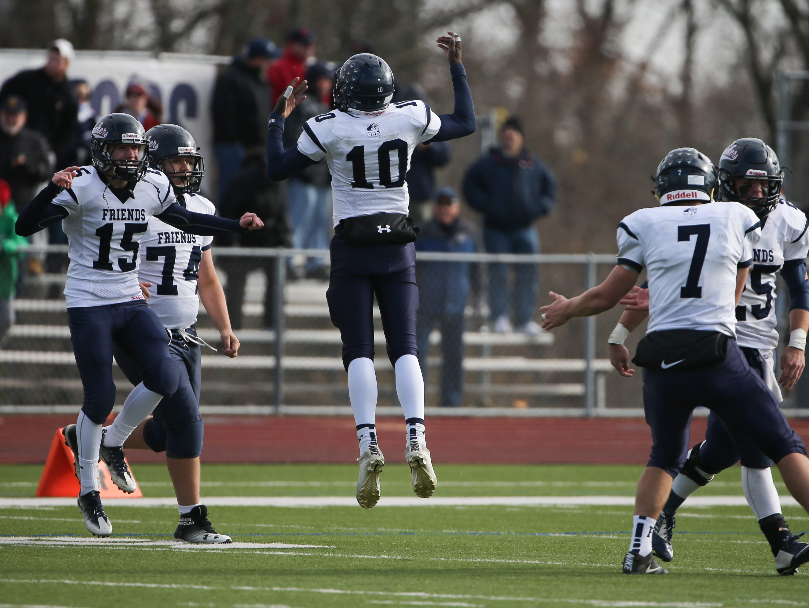Wilmington Friends advances to the DIAA Division II state finals with a 20-6 win over St. Georges Saturday.