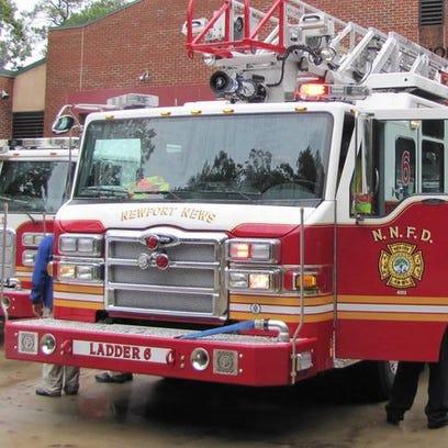 A truck of the Newport News Fire Dept.
