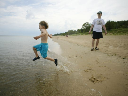 The Indiana Dunes National Seashore is a popular place
